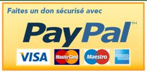 FAIRE UN DON SECURISE EN LIGNE AVEC PAYPAL (VISA, MASTERCARD, MAESTRO, AMERICAN EXPRESS)
